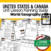 United States & Canada Lesson Plan Guide for World Geograp