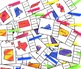 United States Capital Cities for all 50 States (Clip Cards)