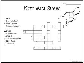 United States Capitals Crossword Puzzles