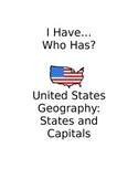 United States Capitals I Have...Who Has? Geography Activity