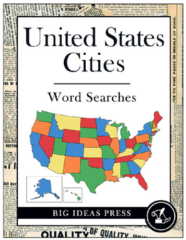 United States Cities Word Searches (Grades 3-5)