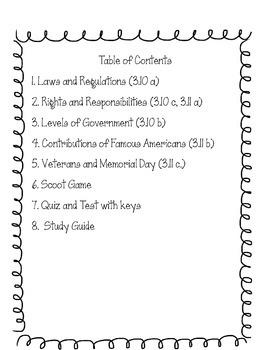United States Government & Civics  Interactive Notebook, Assessments, and More