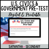 United States Civics and Government Pre-Assessment