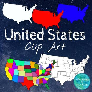 United States Clipart by LaFountaine of Knowledge | TpT