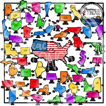 United States Clipart Bundle Smiley Version
