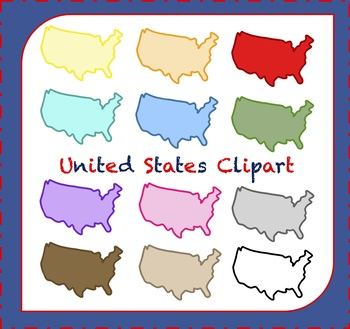 United States Clipart / Map Clipart / USA Clipart