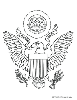 image regarding Printable Coat of Arms known as United Says Coat of Hands Coloring Web page by way of Tims Printables
