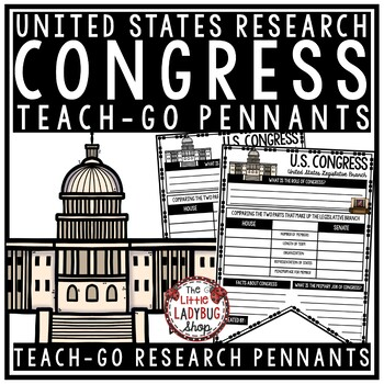 United States Congress Activity & US History Research  • Teach- Go Pennants™