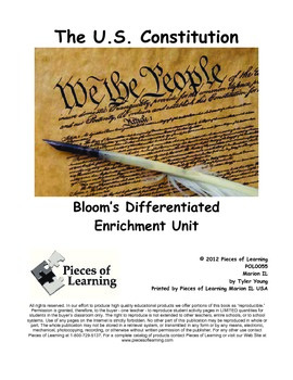 United States Constitution - Differentiated Blooms Enrichment Unit