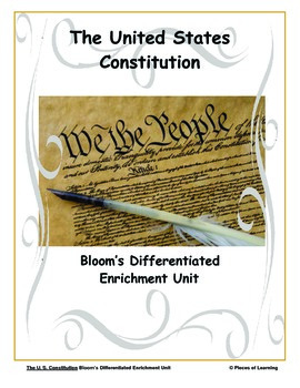 United States Constitution - Differentiated Blooms Enrichm