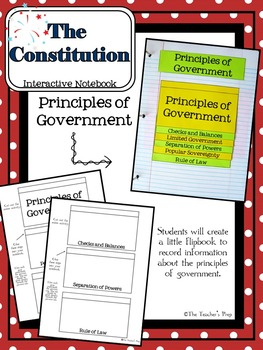 United States Constitution Interactive Notebook