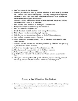 United States Constitution: Mock Congress: How A Bill Becomes A Law