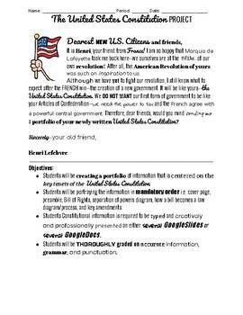 United States Constitution Portfolio Project