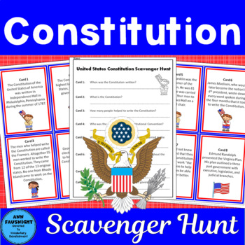 Constitution Day Scavenger Hunt