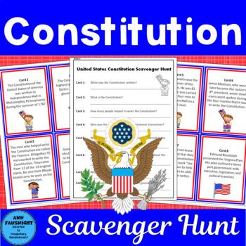 United States Constitution Scavenger Hunt