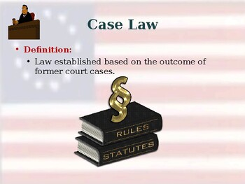 United States Court System - Sources & Types of Laws - Unit Vocabulary Exercise