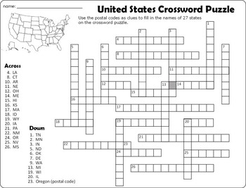 United States Crossword Puzzle and Word Search by Paula and Palmer