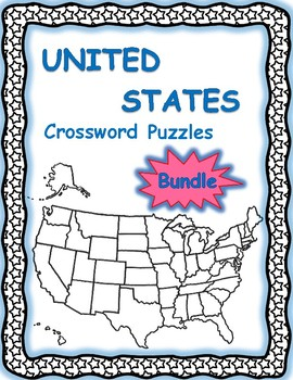 United States Crossword Puzzles Bundle