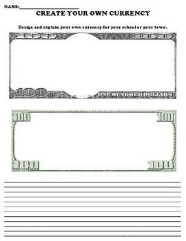 United States Dollar Bill Worksheet