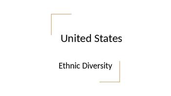Geography - United States Ethnic Diversity Notes