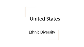 Geography - United States Ethnic Diversity Notes