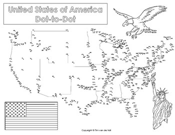 United States Extreme Dot To Dot Connect The Dots By Tim S Printables