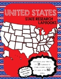 United States Fifty State Research Lapbook Interactive Projects BUNDLE