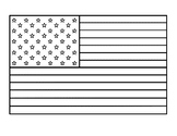 United States Flag American Flag Template American Flag Coloring Sheet Outline