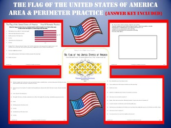 United States Flag ~ Area & Perimeter Practice w/ Answer Key