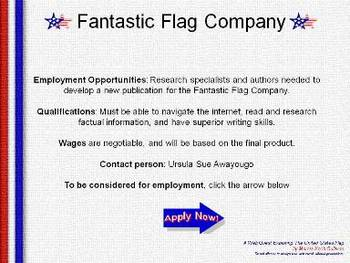 United States Flag Webquest