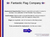 United States Flag Webquest