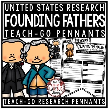 United States Founding Fathers & US History Research  • Teach- Go Pennants™