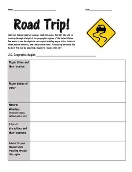 United States Geographic Regions Road Trip Project