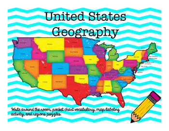 United States Geography Activity Set