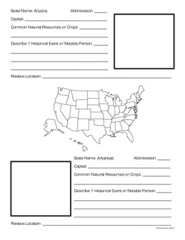 United States Geography Booklet
