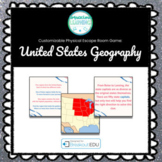 United States Geography Customizable Escape Room / Breakout Game