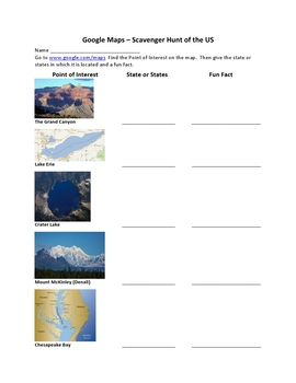United States Geography  Bundle-Discover Rivers, Lakes, Mountains, and Deserts
