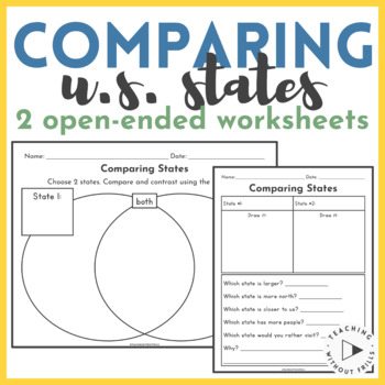 |FREE!| United States Geography: Research and Compare 2 States