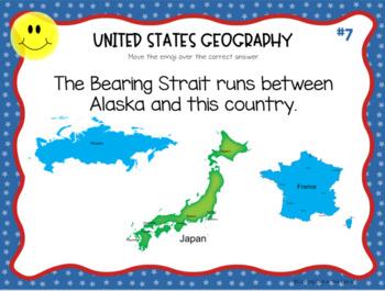 United States Geography Digital Task Cards for Google Slides