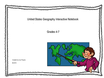 United States Geography Interactive Notebook Printables
