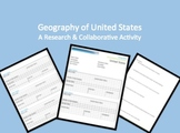 United States Geography Internet Research Activity and Organizer