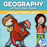 United States Geography Map Skills Unit with Informational Text & Lapbook