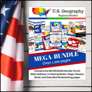 United States Geography MEGA Bundle - Regions and States