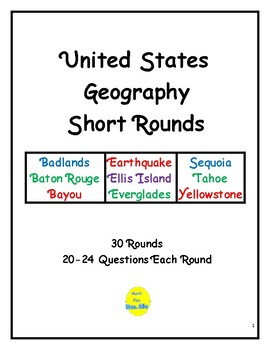 United States Geography Short Rounds