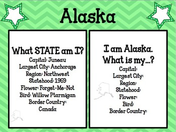 United States Geography Task Cards for all 50 States!  2 Options for Use!