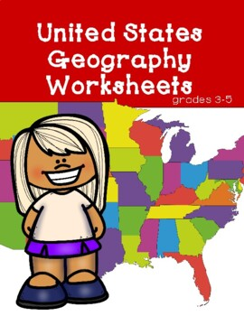 United States Geography Worksheets by Penelope Winter | TpT