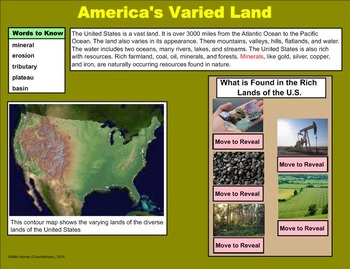 United States Geography and Regions - A Fourth Grade SMARTBoard Introduction