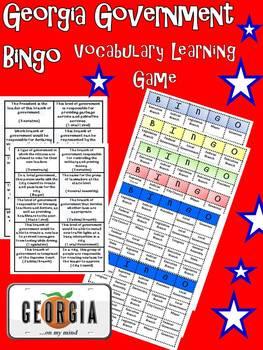 United States Government Bingo-Test Prep Fun!