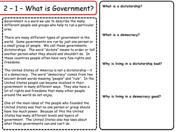 United States - Government & Civics - Unit 1 - Federalism