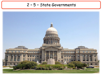 United States - Government & Civics - Unit 5 - State Governments